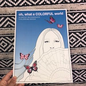 """""""Oh what a Colorful world"""" Kacey Musgraves book"""